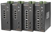 10/100 Industrial DIN-rail Mount PoE+ Managed Switches