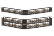 Category 5e MT-Series Screened Angled Patch Panels
